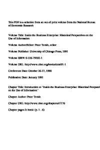 Volume Publisher: University of Chicago Press, Volume URL: