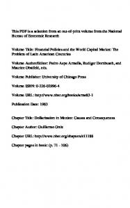 Volume Publisher: University of Chicago Press. Volume URL: