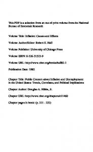 Volume Publisher: University of Chicago Press. Volume URL: