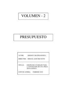 VOLUMEN - 2 PRESUPUESTO