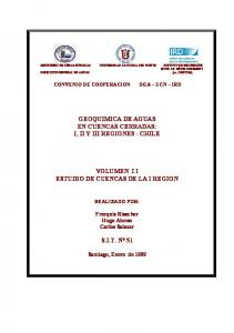 VOLUMEN I I ESTUDIO DE CUENCAS DE LA I REGION