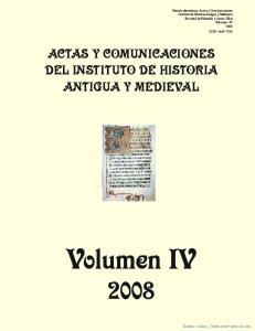 Volumen IV ACTAS Y COMUNICACIONES DEL INSTITUTO DE HISTORIA ANTIGUA Y MEDIEVAL