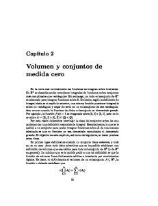 Volumen y conjuntos de medida cero
