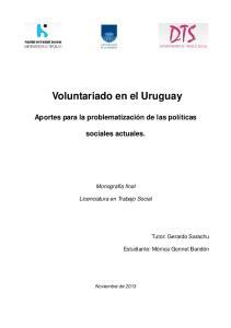 Voluntariado en el Uruguay