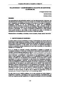 VOLUNTARIADO Y ACOMPAÑAMIENTO EDUCATIVO EN CONTEXTOS VULNERABLES
