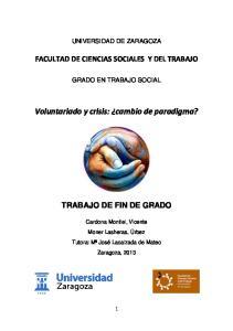 Voluntariado y crisis: cambio de paradigma?