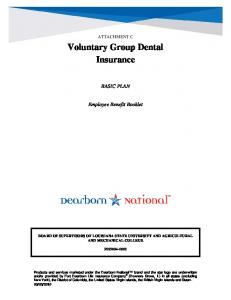 Voluntary Group Dental Insurance