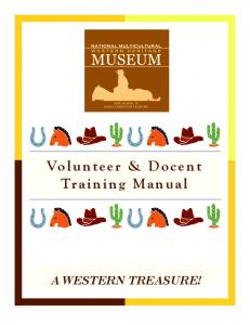 Volunteer & Docent Training Manual