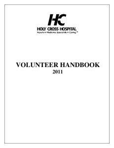 VOLUNTEER HANDBOOK 2011