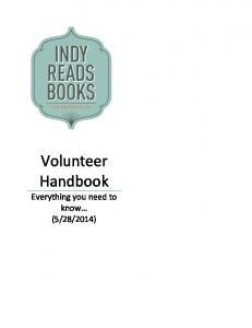 Volunteer Handbook Everything you need to