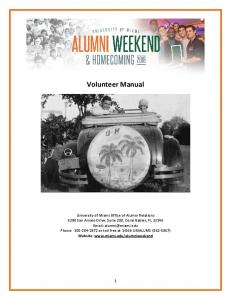 Volunteer Manual Website :