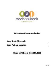 Volunteer Orientation Packet