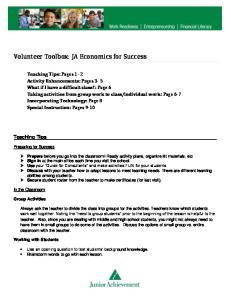 Volunteer Toolbox: JA Economics for Success