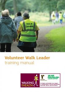 Volunteer Walk Leader training manual