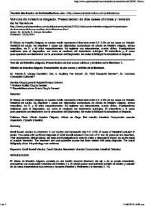 Volvulo de intestino delgado. Presentacion de dos casos clinicos y revision de la literatura 1