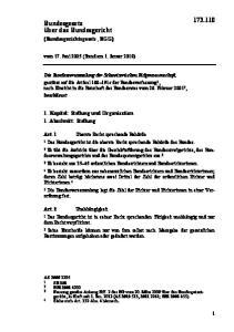 vom 17. Juni 2005 (Stand am 1. Januar 2018)