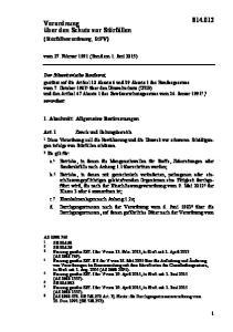 vom 27. Februar 1991 (Stand am 1. Juni 2015) 1. Abschnitt: Allgemeine Bestimmungen