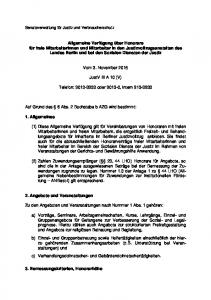 Vom 3. November JustV III A 10 (V) Telefon: oder , intern