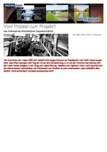 Vom Protest zum Projekt?