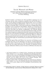 Von der Westmark nach Weimar