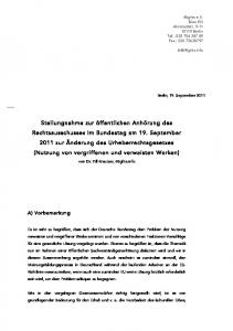 von Dr. Till Kreutzer, irights.info