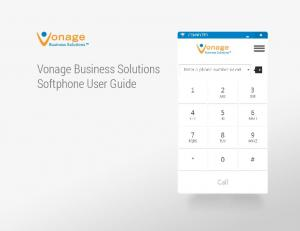 Vonage Business Solutions Softphone User Guide