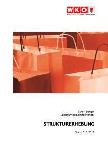 Vorarlberger Lebensmitteleinzelhandel STRUKTURERHEBUNG