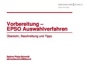 Vorbereitung EPSO Auswahlverfahren