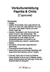 Vorkulturanleitung Paprika & Chilis (Capsicum)