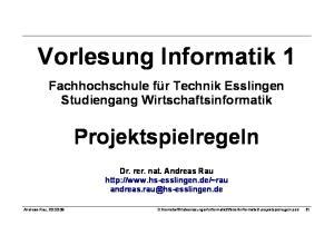 Vorlesung Informatik 1