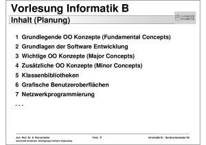 Vorlesung Informatik B