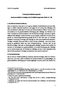Vorlesung Kreditsicherungsrecht. Insolvenzrechtliche Grundlagen des Kreditsicherungsrechts (Folien 16 30)
