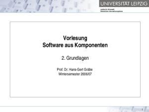 Vorlesung Software aus Komponenten