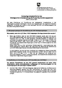 Vorläufige Arbeitshilfe für die Strategische Umweltprüfung (SUP) bei Raumordnungsplänen - Stand: Januar