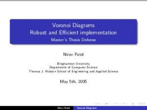 Voronoi Diagrams Robust and Efficient implementation
