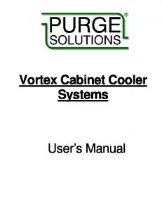 Vortex Cabinet Cooler Systems. User s Manual