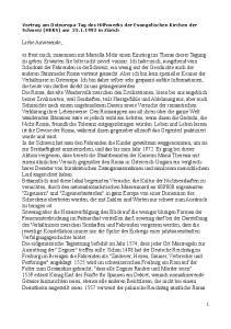 Vortrag am Osteuropa-Tag des Hilfswerks der Evangelischen Kirchen der Schweiz (HEKS) am in Zürich