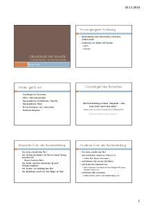 Vorvergangene Vorlesung GRUNDKURS INFORMATIK 4. VOM BIT ZUM TEXT DIGITALE TYPOGRAPHIE. Grundlagen des Textsatzes