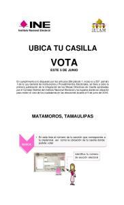 VOTA ESTE 5 DE JUNIO