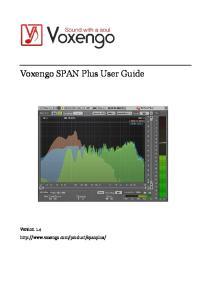 Voxengo SPAN Plus User Guide