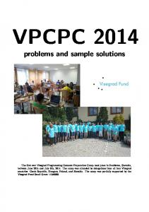 VPCPC problems and sample solutions