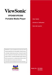 VPD500 Portable Media Player