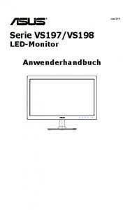VS198 LED-Monitor Anwenderhandbuch