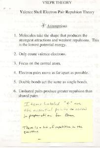 VSEPR THEORY. Valence Shell Electron Pair Repulsion Theory. Jf-- Assumptions