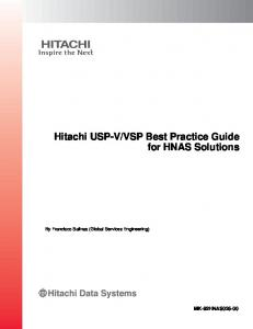 VSP Best Practice Guide for HNAS Solutions
