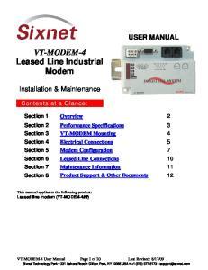 VT-MODEM-4 Leased Line Industrial Modem