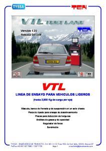 VTL LINEA DE ENSAYO PARA VEHICULOS LIGEROS