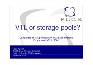 VTL or storage pools?