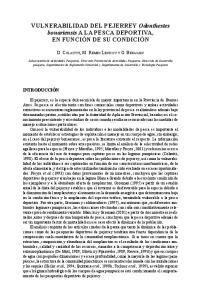 VULNERABILIDAD DEL PEJERREY Odonthestes bonariensis A LA PESCA DEPORTIVA,
