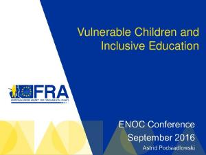 Vulnerable Children and Inclusive Education